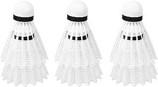 CURT SHARIAH 12Pcs//set White Badminton Plastic Shuttlecocks Indoor Outdoor Shuttles for Badminton