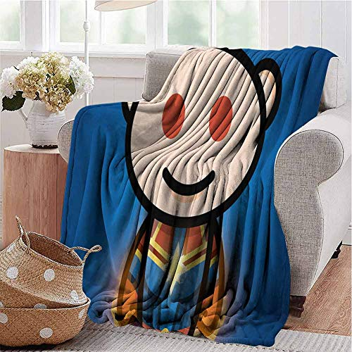 HouseDecor King Size Blanket 65x50 Inch Reddit Captain Artwork q0 for All Season Wrinkle Resistant Machine Wash