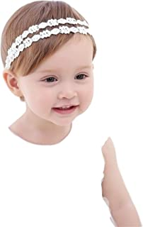 xldreams Imported Xldreams Flower design White Lace Hairband/Head band for kids/infants for party/baptism/birthday naming ...
