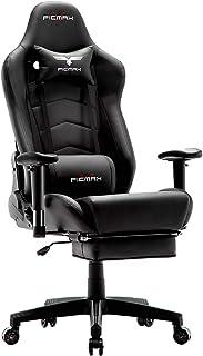 Ficmax Silla ergonómica para juegos Silla para computadora con masaje de soporte lumbar sillas de juego para E-sports par...