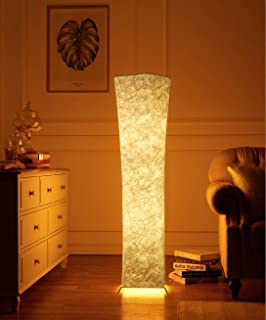 Floor Lamp, Fy-Light Modern Fabric LED Floor Lamps for Living Room Standing Room with 2 Bulbs Warm Atmosphere- 52