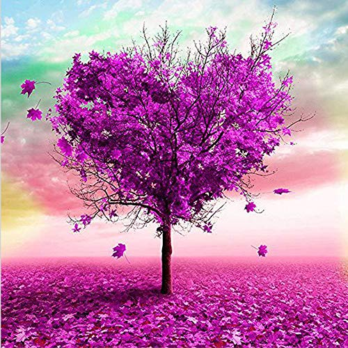 Kaychan DIY 5D Diamond Painting by Number Kit Full Diamond Crystal Cross Embroidery Art Crafts Decoration for Family Wall Decor-16X16 Love Tree