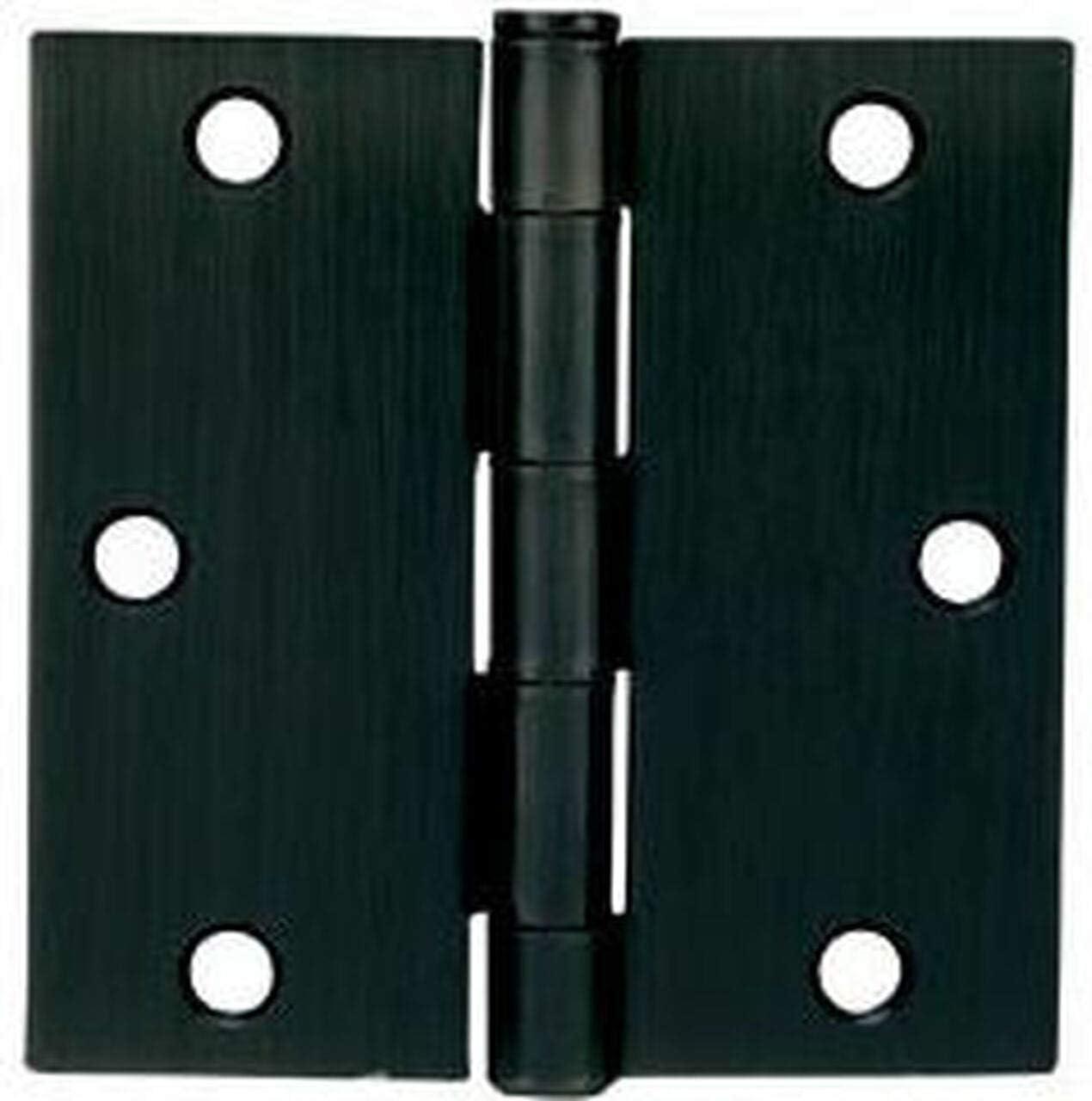 Cosmas Flat Black Door Hinge 3.5