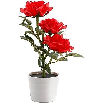 Lampe Solaire Fleur LED en forme de Rose Bouquet Roses