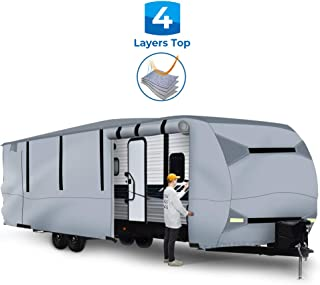 BougeRV Travel Trailer RV Cover Waterproof Lightweight RV Camper Cover Fits 27'-30' Travel Trailers