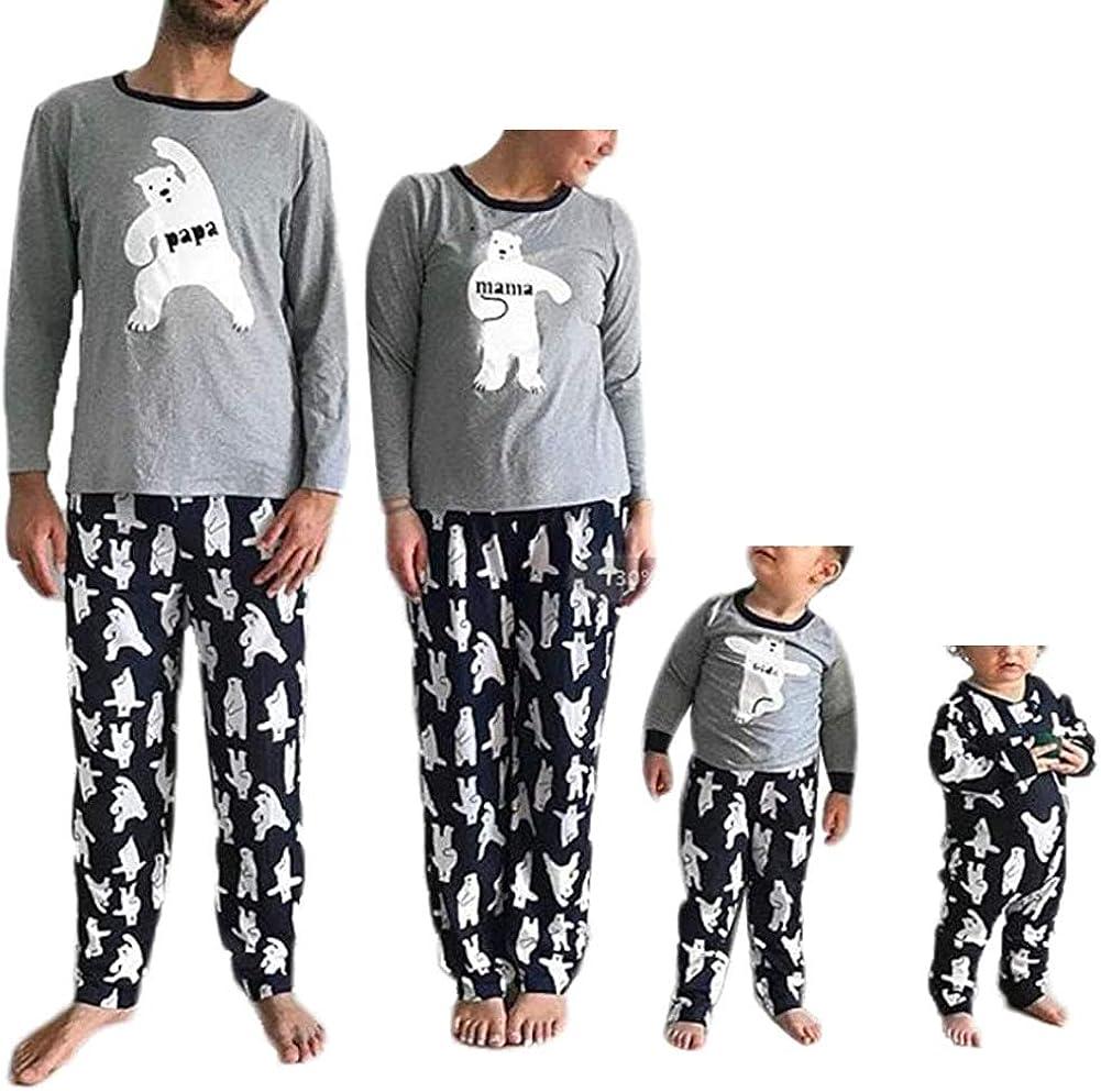 Huyghdfb Christmas Family Matching Pyjamas Set Women Men Baby ...