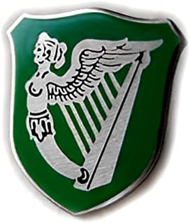 VENICEBEE Ireland Green Flag HARP Winged Maiden Erin GO Bragh Irish Symbol Lapel PIN