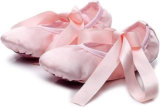 comprar comparacion Lily's Locker -Zapatillas de Ballet de Suela Partida para Niñas Mujeres