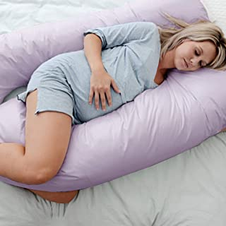 Australian Made Pregnancy/Maternity/Nursing Pillow Body Feeding Support (Pillowcase Included) (Lilac)