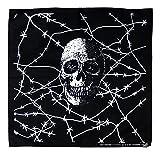 Tuch Totenkopf Stacheldraht Kopftuch Bandana
