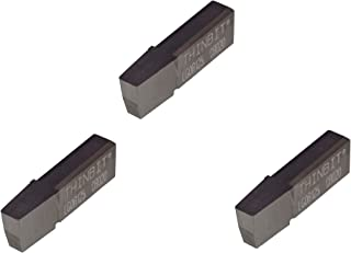 THINBIT 3 Pack SGI033D2 0.033 Width 0.099 Depth Uncoated Carbide Grooving Insert for Steel Cast Iron and Stainless Steel with Interrupted Cuts Sharp Corner