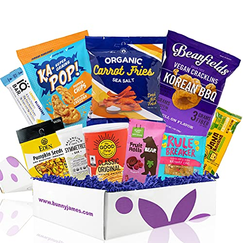 Product Image of the Vegan and Gluten Free Snack Box Care Package - Mix of Vegan Chips, Protein Bars,...