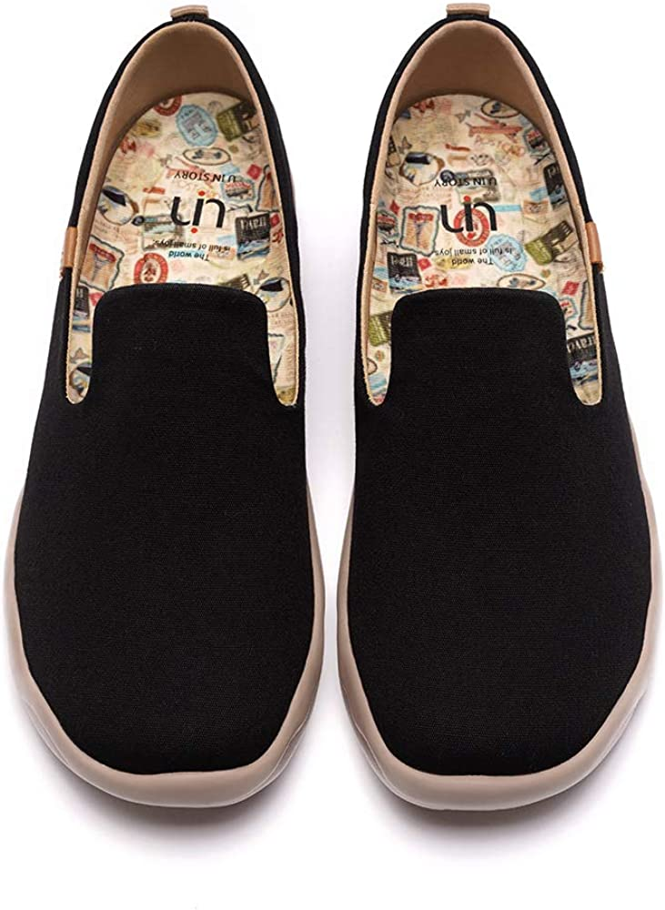 UIN Men's Slip Ons Color Loafers Canvas Lightweight Sneakers Walking Casual Art Painted Travel Shoes