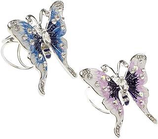 B Baosity 2 Pz Spilla Anello Sciarpa Abbigliamento in Disegno Farfalla Accessorio Regalo per Natale Anniversario Compleanno