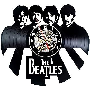 Reloj de pared hechos a mano del disco de vinilo del tema de los Beatles: Amazon.es: Hogar