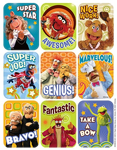 """Eureka Muppets Large Stickers for Teachers, 36pc, 1-5/16"""" x 1-3/4"""""""