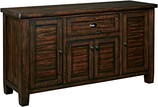 Ashley Furniture Signature Design - Trudell Dining Room Server - Solid Pine Wood Construction - Dark Brown