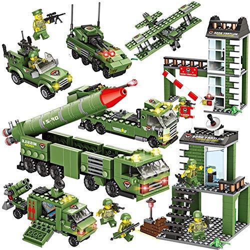 TOPD Building Blocks Tanque Aviones Dongfeng Missile Series Modelo Militar Base Niños Juguetes for niños Rompecabezas Asamblea Niño Regalo Navidad Regalo de cumpleaños, 1219pcs