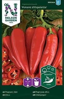 """Chili Samen Piment d""""Espelette - Nelson Garden Saatgut für Gemüsegarten - Pflanzensamen Chili mild 7 Stück Einzelpackung"""