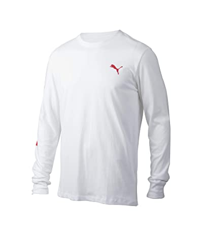 PUMA Classics Logo Long Sleeve Tee (PUMA White) Men
