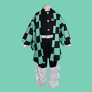 Sword fort Japanese Anime Cosplay Costume Kimono Set --Demon Slayer Kimono Outfit -- Kamado Tanjirou Child version