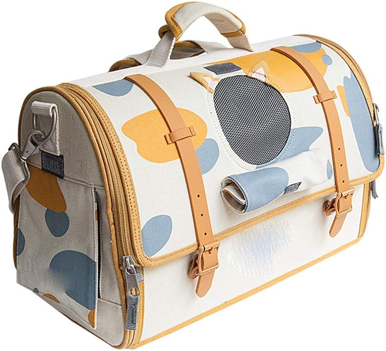 Byx Pet bag  cat bag dog bag cat shape pet out bag cat dog carrying bag42X29X18CM   46X31X20CM Pet Backpack (color   B, Size   42X29X18CM)