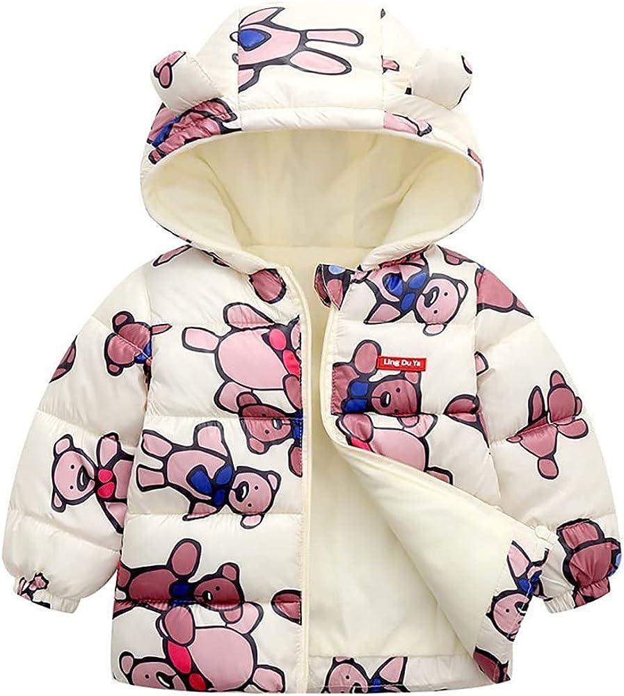 Weixinbuy Coat for Baby Girls Boys Winter Max 66% OFF Jacket Warm Hoo Fleece Translated