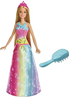 Barbie Dreamtopia Brush N Sparkle Princess Doll for Girls, 3 Years and Above - FRB12