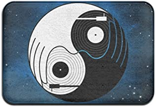 Soft Non-slip Tai Chi Dj Music Bath Mat Coral Fleece Area Rug Door Mat Entrance Rug Floor Mats