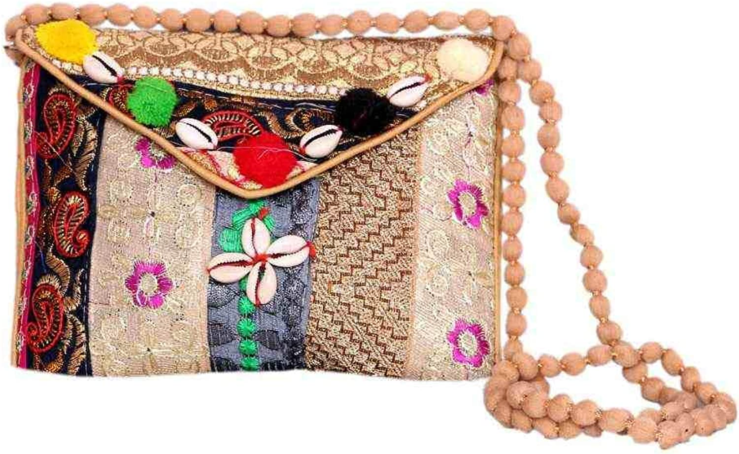 Wholesale 50 pc lot Bulk Indian Vintage Hand Bag Traditional Bridal Clutch Beaded Shoulder Bag potli Pouch Hand Bag Purses Women Purse by Craft place-50
