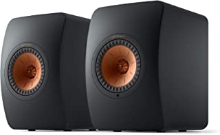 KEF LS50 Wireless II Powered stereo speakers with Wi-Fi®, Bluetooth®, and Apple AirPlay® 2 (Carbon Black)