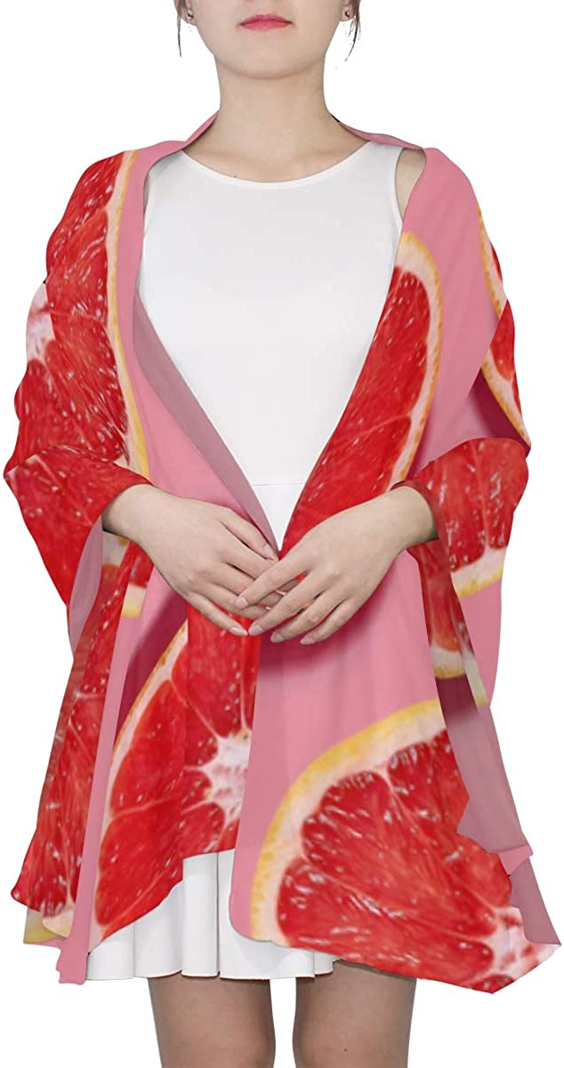 Fresh Pink Grapefruits Unique Fashion Scarf For Women Lightweight Fashion Fall Winter Print Scarves Shawl Wraps Gifts For Early Spring