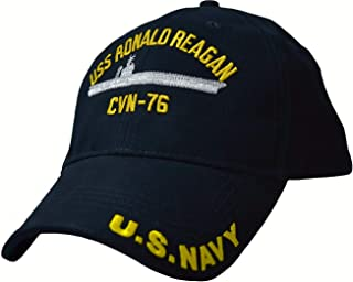 USS Ronald Reagan CVN-76 Low Profile Cap Navy Blue