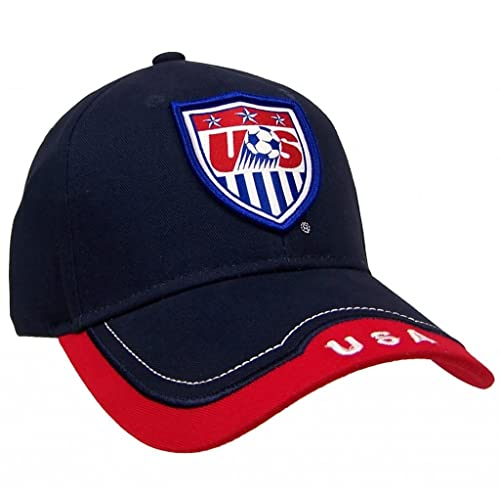 b98c9ae1316 Team USA Unisex Cotton World Cup Soccer Adjustable Cap Hat (Blue Red)