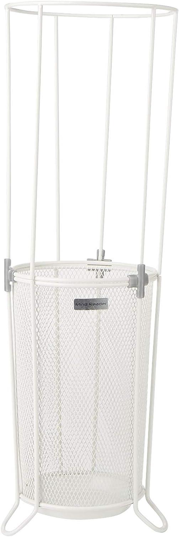 Mind Reader UMBHCON-WHT, Metal Mesh Basket, Entry Hallway Umbrella Holder, Home, Office Décor, White