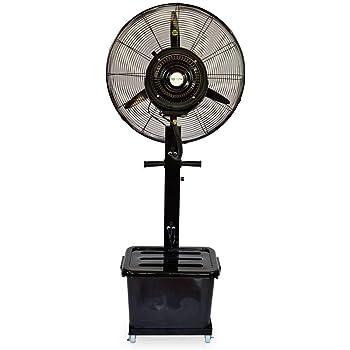 Ventilador Nebulizador Industrial 260W 220V, Ventilador Oscilante De Pie, Tanque De Agua De 41L, 9h De Tiempo De Uso con 1 Tanque Lleno, Velocidad Ajustable Y Ajuste De Volumen De Niebla: Amazon.es: