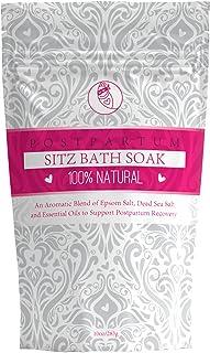 Sitz Bath Soak For Postpartum Care. 100% Natural Dead Sea & Epsom Salts Blend with Essential Oils. Post Partum or Shower G...