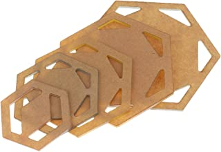 Sharplace 5 Piezas de Accesorio Acolchada para Decoracion de Arbol de Navidad Hogar de Acrílico DIY - hexágono