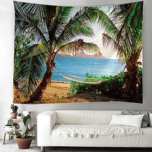 Tapiz de árbol de coco Mandala tapiz de pared bohemio gitano psicodélico tapiz tapiz manta A5 180x230cm