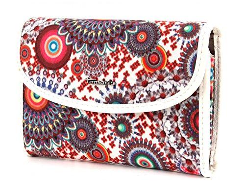 Tamaris NIKKI Small Wallet with Flap White Comb