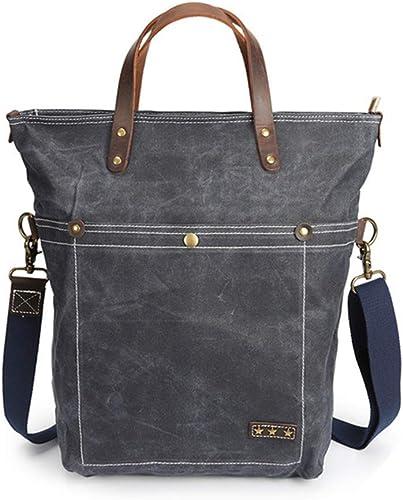 HXZB M er  Wachs Wasserdichte Leinwand-Tasche Single Shoulder Handtasche Verrückte Pferde Leder M er Tasche