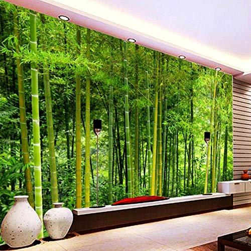 Nieuwste hoge kwaliteit bamboe muur papier, woonkamer TV bank achtergrond muur muurschildering, 3D natuur landschap huisdecoratie 280 cm (B) x 180 cm (H)