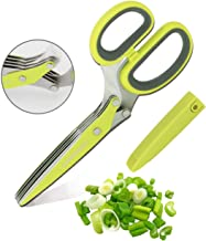 Kitchen Herb Scissors 5-Layer Stainless Steel Blades, Efficient Food Cutting,Suitable For Cutting Parsley,Green Onion,Seaweed,Rosemary,Mint