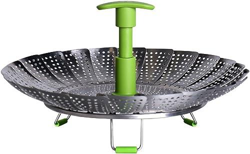 "popular G.a HOMEFAVOR Lotus 2021 popular Stainless Steel Steamer Basket Vegetable Steamer with Extendable Handle(Bigger Size 7"" to 11"") online"