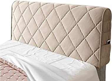 Bed Headboard Cover Single Double King Size Stretch Head Protector Color Champagne 200cm