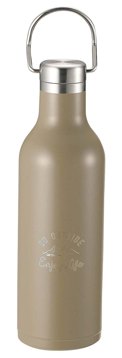 に関して起業家エキスパートキャプテンスタッグ(CAPTAIN STAG) スポーツボトル 水筒 直飲み ダブルステンレスボトル 真空断熱 保温?保冷 ハンガーボトル 480ml カーキ モンテ UE-3423