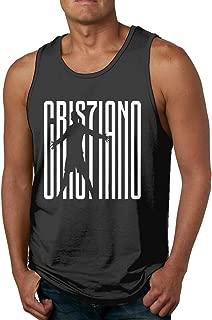 WillardSCox Men's Cristiano Ronaldo Juventus CR7 Seria A Soccer Jersey Sleeveless Tank Top Casual Sport Gym Vest Shirt