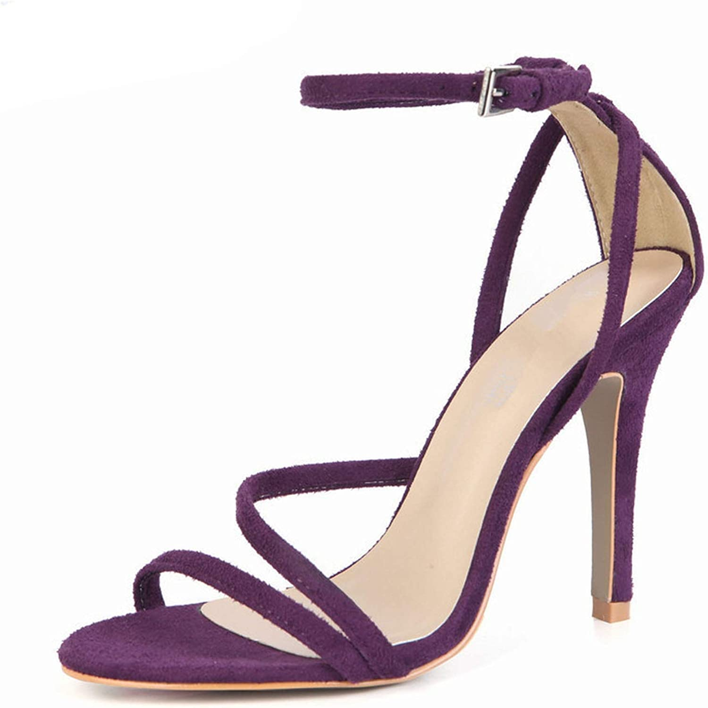 Sommar Open Toe Sandals 10 cm Thin High klackar Buckle Buckle Buckle skor kvinna Sexy Pumpar  senaste stilar