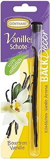 BackDecor Vanilleschote | 1 Vanilleschote | aus exklusiver Bourbon Vanille | köstliches Vanille Aroma | 100 Prozent natürlich | aus Madagaskar | geeignet für Gebäck, Eis und Getränke