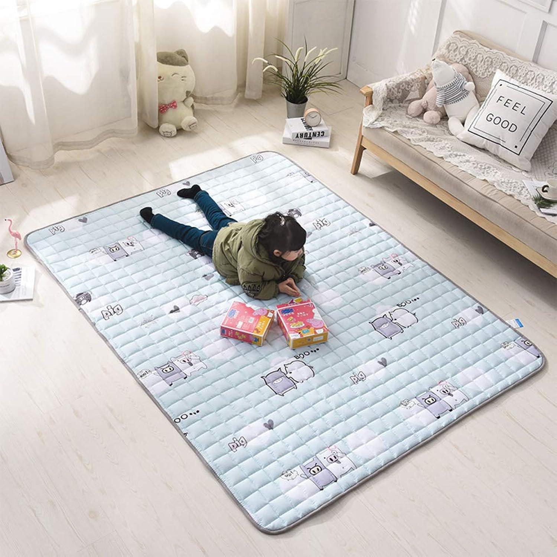 Mattress Topper, Summer Floor mat Folding Quilted Comfort Non-Slip Hypoallergenic Futon Pad Bed roll-B 100x200cm(39x79inch)
